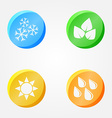 Symbols of 4 seasons - winter spring summer autumn vector