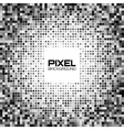 Abstract dark gray pixel background vector