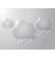 Cloud with drops vector