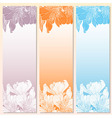Floral label templates eps 8 vector