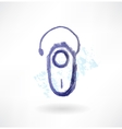 Bluetooth headset grunge icon vector