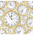 Seamless pattern with watches stylish texture vector