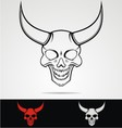 Devils head tribal vector