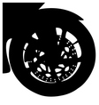 Motorcycle front wheel vector