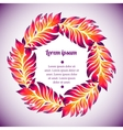 Floral watercolor wreath of colorful feather vector