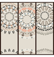 Tribal pattern at set of cards vector