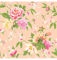 Vintage peony flowers background vector