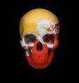 Bhutanese flag skull vector