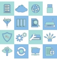 Database icons flat line vector