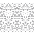 Dark monochrome color outline abstract geometric vector