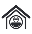 Home thief icon vector