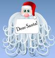 Cartoon santa with big beard vector