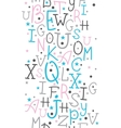 Colorful alphabet letters vertical border seamless vector