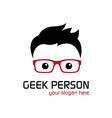 Geek person vector