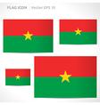 Burkina faso flag template vector