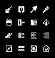 Set icons of repair and building vector