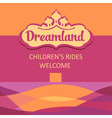 Logo and background for childrens rides abstract vector
