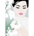 Young asian woman vector