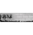 Grunge brick banner vector
