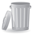 Trash can 02 vector