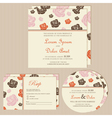 Wedding invitation cards with roses vector