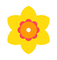 Narcissus - flower icon vector