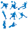 Silhouettes of athletes vector