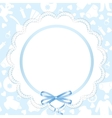 Card with lace ribbon vector