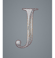 Abstract letter j vector