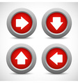 Set of arrow buttons vector
