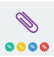 Flat circle icon vector
