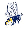 Honey bee flying vector