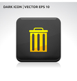 Trash delete remove icon gold vector