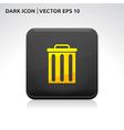 Trash delete remove icon gold vector