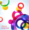 Colorful rings background - vector