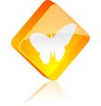 Butterfly button vector