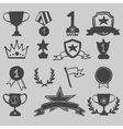 Trophy and awards icons hand draw vector