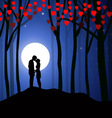 Valentine night vector