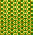 Abstract geometric seamless pattern hexagon vector