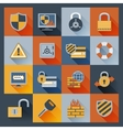 Security icons set flat vector