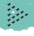 Flock of birds flying in the sky vector