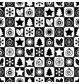 Seamless black and white christmas vector