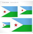 Djibouti flag template vector