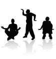 Man silhouette in various poses vector