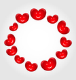 Round frame made in smiling hearts for valentines vector