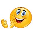 Clapping emoticon vector