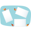 Birds holding paper lists vector