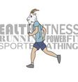 Sport man running vector