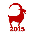 Chinese new year of the goat 2015 vector