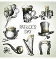 St patricks day set vector